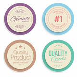 Badges and labels collection. Quality, assurance marks. Vector Royalty Free Stock Photography