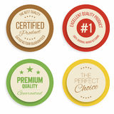 Badges and labels collection. Quality, assurance marks. Vector Royalty Free Stock Photo