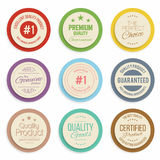 Badges and labels collection. Quality, assurance marks. Vector Stock Photo