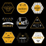 Badges and labels design for bee design Royalty Free Stock Photos