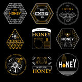Badges and labels design for bee design Stock Photo