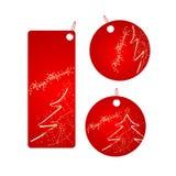 badges le positionnement de rouge de Noël Image libre de droits