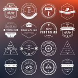 Badges and logos Cycling Royalty Free Stock Photos