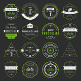 Badges and logos Cycling Royalty Free Stock Photography