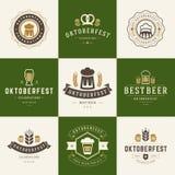 Badges and logos set Beer festival Oktoberfest Royalty Free Stock Image