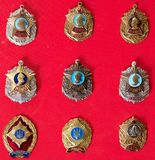 Badges, military school,, collection. Badges, military school, badges of the military Suvorov Cadet School for many years, collection Stock Photography