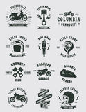 Badges Motorcycle Collections Royalty Free Stock Images