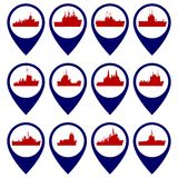 Badges with Navy ships-1 Stock Photo
