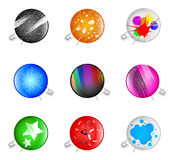 Badges with a pin Royalty Free Stock Photography