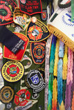Badges. Police and fire men badges Royalty Free Stock Images