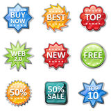 Badges and price tags Royalty Free Stock Images
