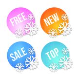 Badges and price tags, sale tags Stock Image