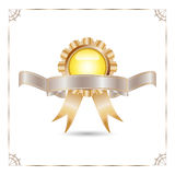 Badges and ribbon Stock Photography
