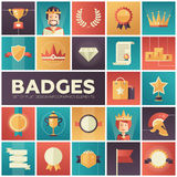 Badges, ribbons, awards icons set Stock Photography