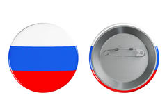 Badges with Russia flag Stock Photos