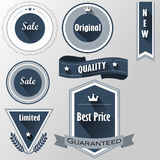 Badges for sale,best price,original,quality,limited Royalty Free Stock Photos