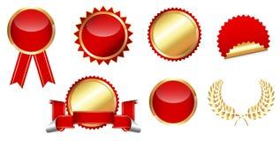 Badges and Seals Vectors Stock Photo