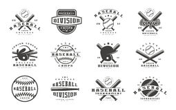 Badges set of baseball team vector illustration