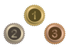 Badges. Set of circle awards with numbers Royalty Free Stock Photo