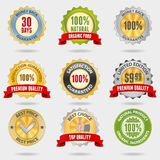 Badges set. Set of different shiny badges Royalty Free Stock Images
