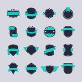 Badges Set. Set of flat graphic badges design royalty free illustration