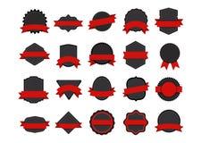 Badges Set. Set of flat graphic badges design vector illustration