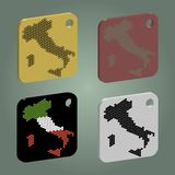 Badges set with italy map Royalty Free Stock Photos