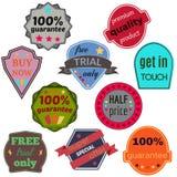 Badges-41 Royalty Free Stock Photo