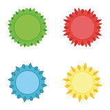 Badges Stickers Royalty Free Stock Photos