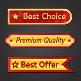 Badges and stickers. Set of  badges and stickers Royalty Free Stock Photography