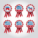 Badges U.S presidential election Stock Photo