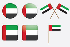 Badges with the UAE flag Stock Images