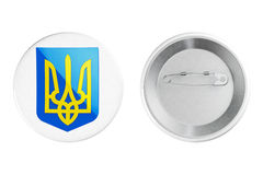 Badges with Ukraine Coat of arms Royalty Free Stock Image