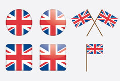 Badges with United Kingdom flag. Vector illustration Royalty Free Stock Image