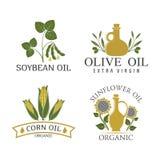 Badges vegetable oil Stock Image