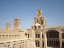 Badgirs na cidade de Abarkuh, Irã Foto de Stock
