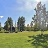 Badhusparken in Piteå royalty-vrije stock afbeelding