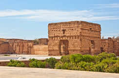 badi el宫殿palais 库存照片