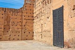 badi el宫殿palais 免版税库存图片
