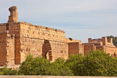 badi el宫殿palais 库存图片