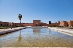 badi el marrkesh pałac Fotografia Royalty Free