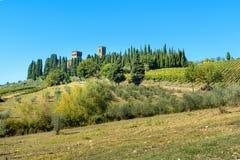 Badia di Passignano, abbaye de San Michele Arcangelo Passignano est abbaye bénédictine historique située placé sur le sommet, ent images stock