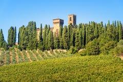Badia di Passignano, abbaye de San Michele Arcangelo Passignano est abbaye bénédictine historique située placé sur le sommet, ent photographie stock