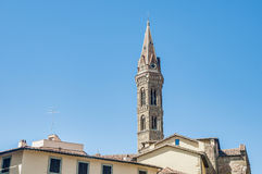 The Badia Fiorentina, an abbey in Florence, Italy Stock Image