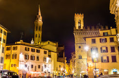 Badia Fiorentina and Bargello in Florence Royalty Free Stock Image