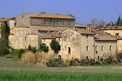 Badia un Isola (Toscana) Immagine Stock