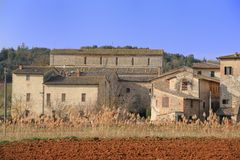 Badia un Isola (Toscana) Immagini Stock
