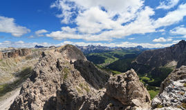 Badia Valley from Cir mount Stock Photography