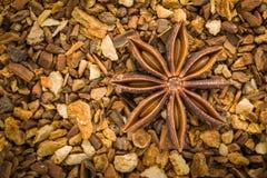 Badian. Spice of badian in detail stock images
