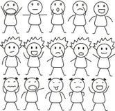 Badine des expressions Image stock